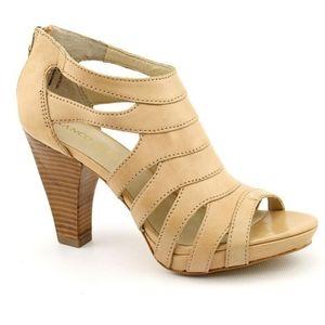Franco Sarto Citrix caged stacked heel sandal